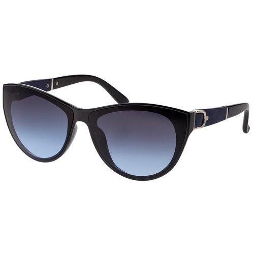 солнцезащитные очки Солнцезащитные очки женские/Очки солнцезащитные женские/Солнечные очки женские/Очки солнечные женские/21kdgara1308403c6vr черный,синий/Vittorio Richi/Кошачий глаз/модные