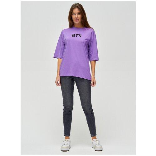 Женские футболки с надписями Фиолетовый, 42