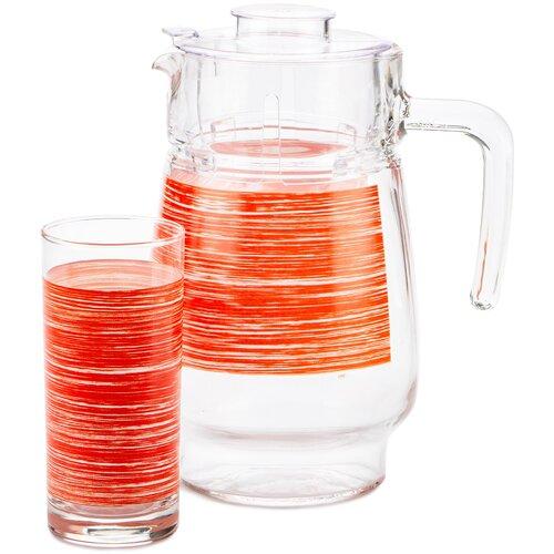 Фото - Набор питьевой 7 предметов БРАШМАНИЯ РЕД чайный набор luminarc брашмания оранж 12 предметов 220мл p8984