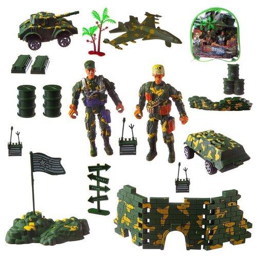Купить Набор военной техники Junfa с солдатиками, и аксессуарами, в сумке (PC618-19), Junfa toys, Машинки и техника