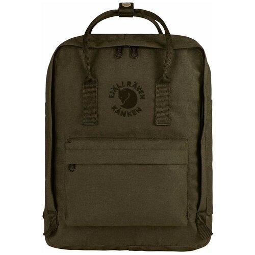 Городской рюкзак Fjallraven Re-Kånken 16, dark olive городской рюкзак fjallraven re kånken 16 un blue