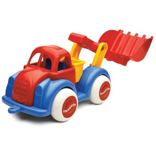 Купить Экскаватор Viking Toys Jumbo (1212), 28 см, красный/синий/желтый, Машинки и техника