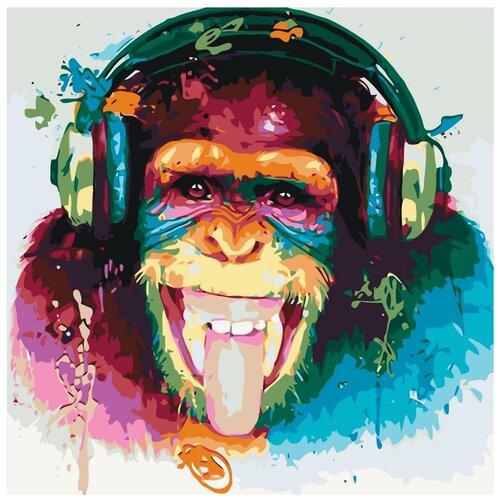 Веселая музыка Раскраска картина по номерам на холсте KTMK-63387 40х40