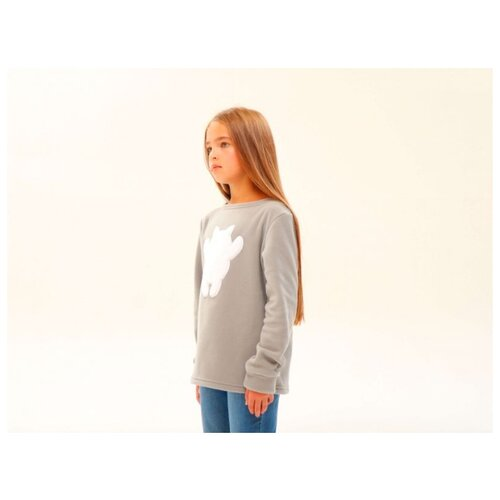 Фото - Свитшот Кофтёныши размер 152, светло-серый свитшот diadora размер 152 серый
