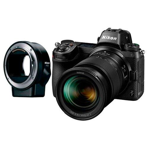 Фото - Фотоаппарат Nikon Z7 Kit черный Nikkor Z 24-70mm f/4S+adapter FTZ фотоаппарат nikon z5 kit 24 50 f 4 6 3 c адаптером ftz