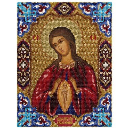 Купить PANNA Набор для вышивания бисером Икона Божией Матери В родах Помощница 24 х 31 см (CM-1469), Наборы для вышивания