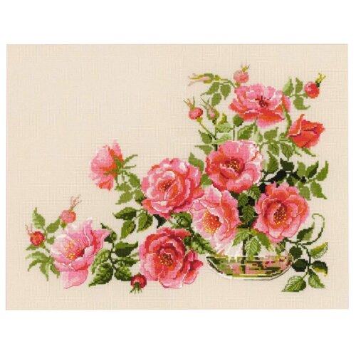 Купить Риолис Набор для вышивания бисером и нитками Premium Сладкий аромат 50 х 40 см (100/032), Наборы для вышивания