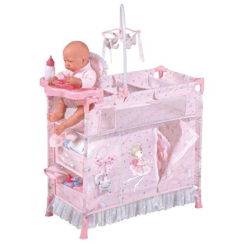 Купить 53034 Манеж-игровой центр для куклы с аксессуарами серии Мария, 70 см, DeCuevas, Мебель для кукол