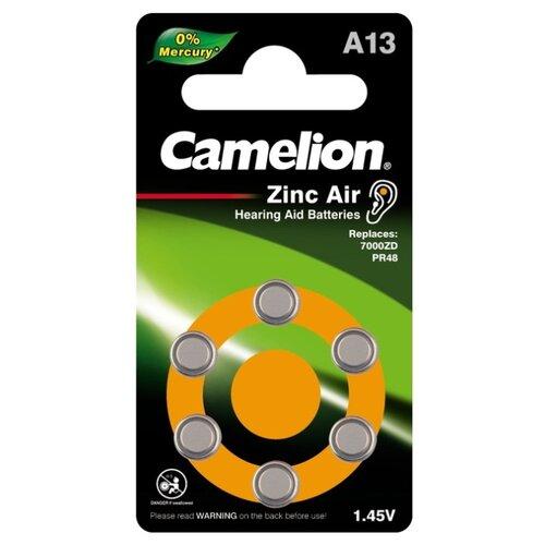 Фото - Батарейка Camelion A13 (PR48), 6 шт. батарейка rayovac extra za312 6 шт