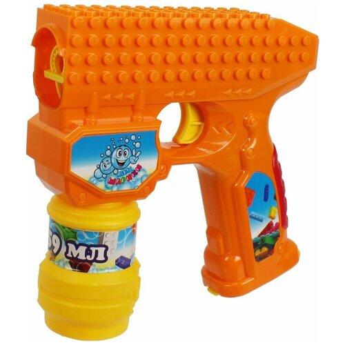 Пистолет для пускания мыльных пузырей 1 TOY Мы-шарики!, 59 мл Т15065 оранжевый