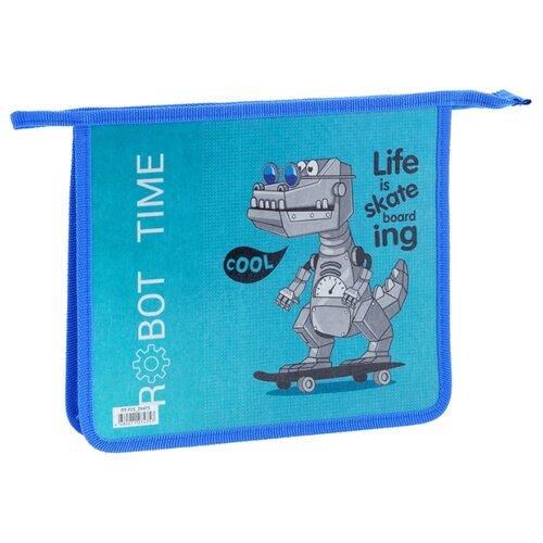 Купить ArtSpace Папка для тетрадей Robot А5, на молнии, пластик голубой, Файлы и папки