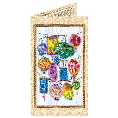 Купить ABRIS ART Набор для вышивания бисером Фонарики желаний 8.4 х 14 см (AO-146), Наборы для вышивания