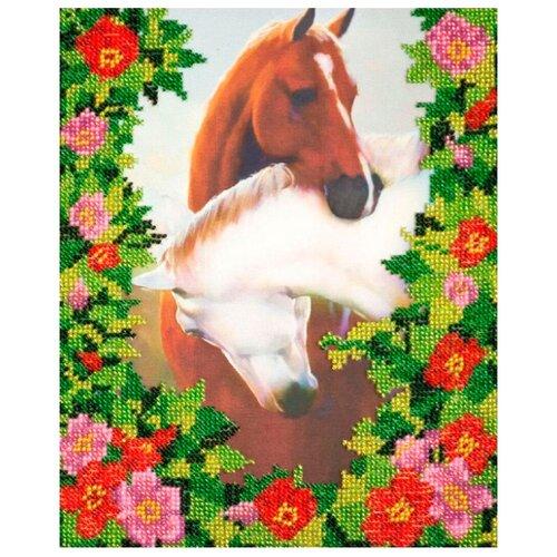Купить ABRIS ART Набор для вышивания бисером Любовь 20 х 25 см (AB-122), Наборы для вышивания