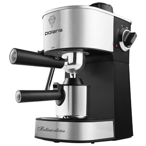 Кофеварка рожковая Polaris PCM 4011, черный/серебристый