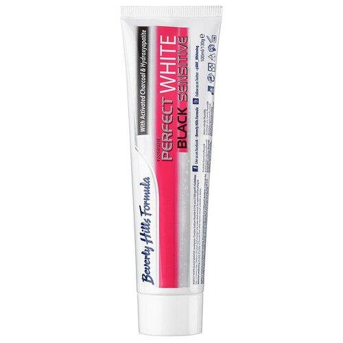 Купить Зубная паста Beverly Hills Formula Perfect White Black Sensitive fresh mint, 100 мл