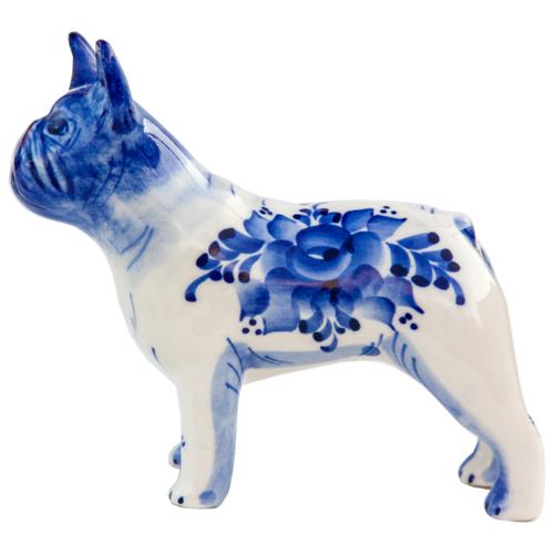 Статуэтка Собака Французский Бульдог Породистая Гжель