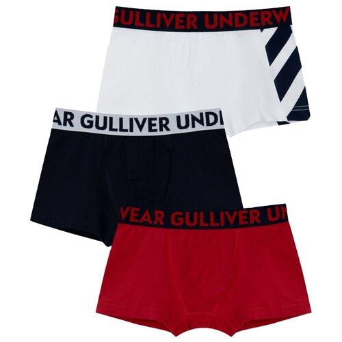 Купить Трусы Gulliver 3 шт., размер 146-152, мультицвет, Белье и пляжная мода