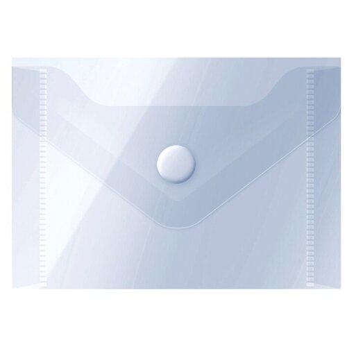Купить OfficeSpace Папка-конверт на кнопке А7, пластик 150 мкм, 20 шт прозрачный, Файлы и папки