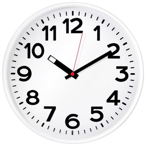 Часы настенные кварцевые Тройка 78771783 белый.