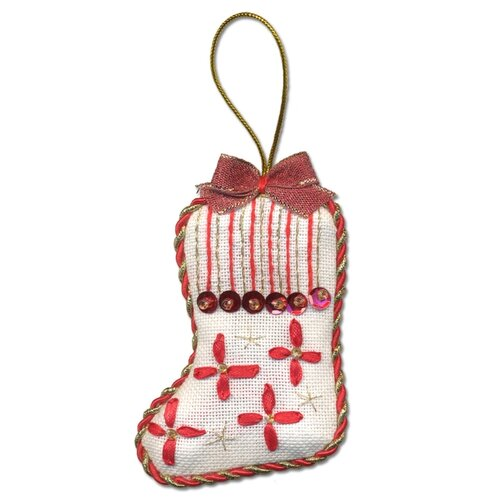Купить PANNA Набор для вышивания Новогодняя игрушка, сапожок 6 х 8 см (IG-1276), Наборы для вышивания