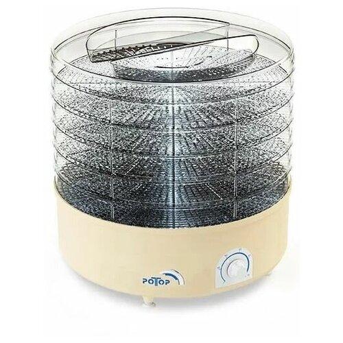 Электросушилка для овощей и фруктов Ротор Дива СШ-002-06 (5 прозрачных поддонов), бежевый