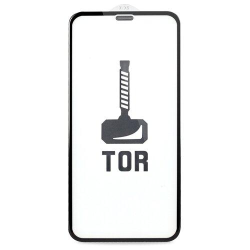 Корейское противоударное стекло для Apple iPhone XR и 11 с Защитной сеткой на динамике / Стекло премиум класса на Эпл Айфон ХР и 11 / TOP Premium от 3D до 21D (черный)