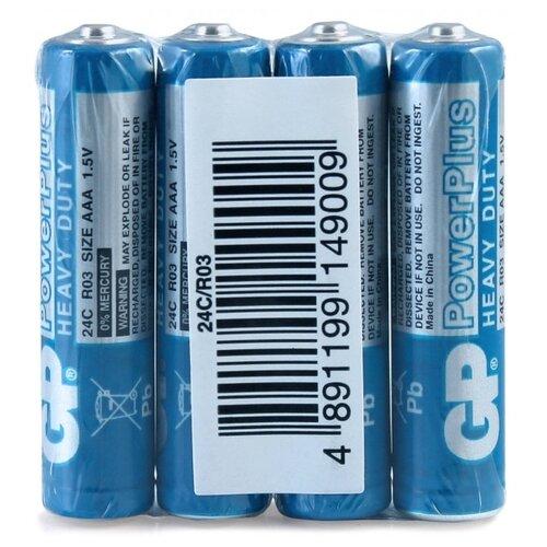 Фото - Батарейка GP PowerPlus AAA R03, 4 шт. батарейка фаza aaa r03 heavy duty 4 шт