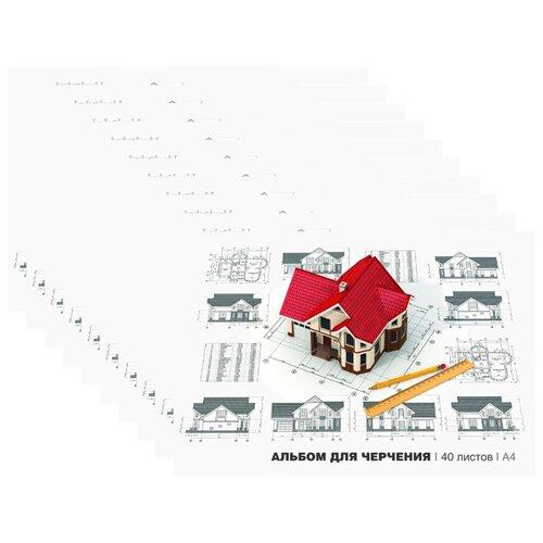 Купить Набор альбомов для черчения ArtSpace 29.7 х 21 см (A4), 160 г/м², 40 л. (10шт.), Альбомы для рисования