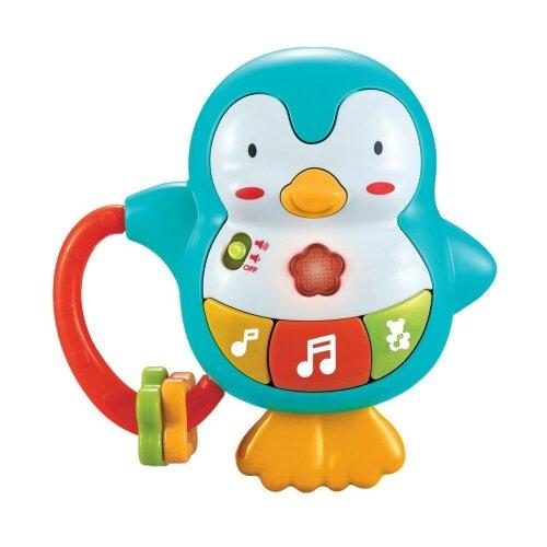Развивающая игрушка Жирафики Веселый пингвинчик голубой/оранжевый/красный
