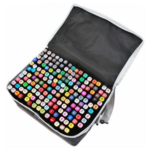 Купить Mazari Fantasia набор маркеров для скетчинга 168 шт в сумке пенале - двусторонние спиртовые пуля/долото 3.0-6.2 мм (вкл. блендер), Фломастеры и маркеры