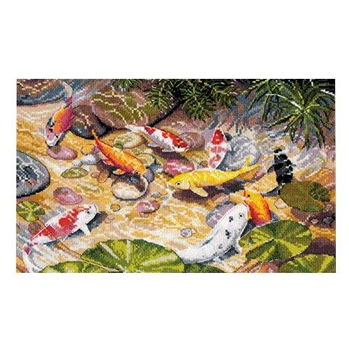Купить Овен Набор для вышивания Девять карпов Кои 29 х 19 см (1036), Наборы для вышивания