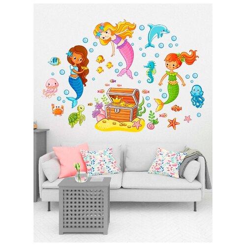 Наклека для стен и мебели Woozzee Сокровище русалок