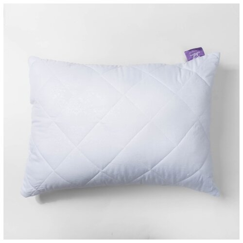 Подушка KUPU-KUPU Бамбук, высокая, 50*68 см, белый, бамбук, силиконизированное волокно, микрофибра, полиэстер 100%