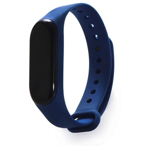 Gurdini Ремешок силиконовый для Xiaomi Mi Band 3 темно-синий