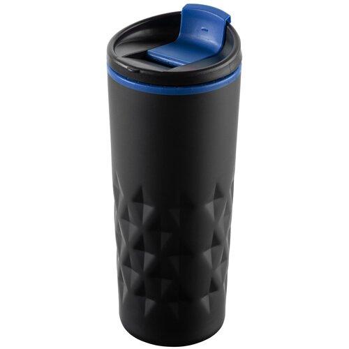 Термокружка molti Relief, 0.4 л черный/синий