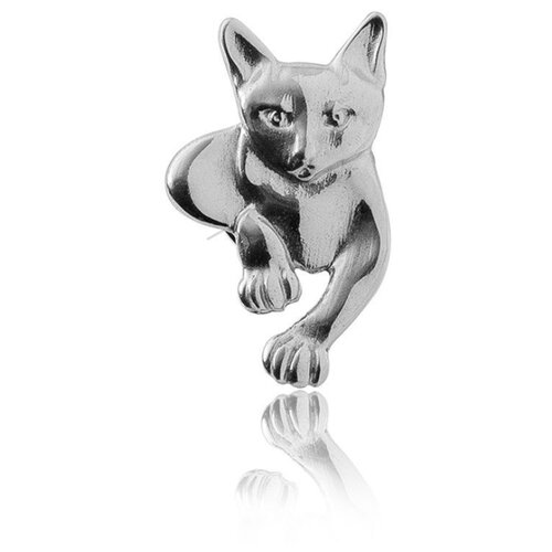 TOP CRYSTAL Брошь Кошка серебряная 40225079