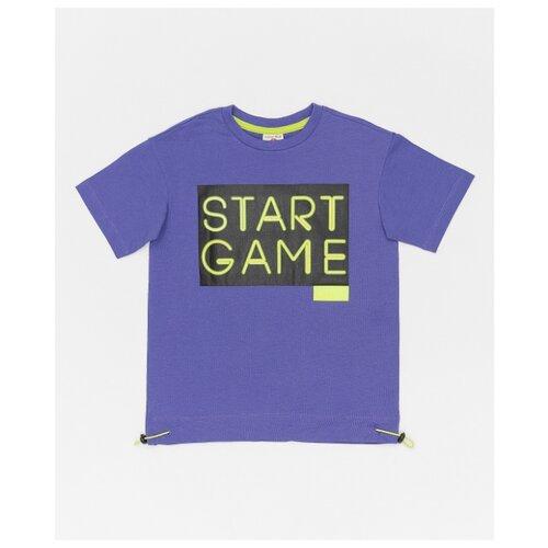 Купить Футболка Button Blue размер 128, фиолетовый, Футболки и майки