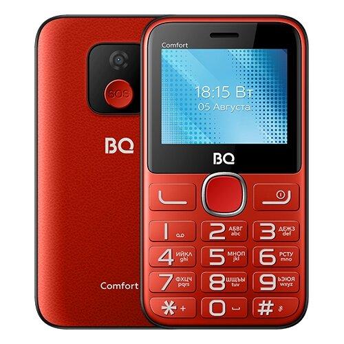 Телефон BQ 2301 Comfort, красный/черный сотовый телефон bq 2301 comfort red black