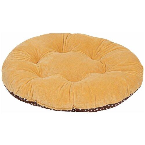 Лежак для собак и кошек XODY Овальный №3 (00834-2) 50х44х8 см бежевый/коричневый
