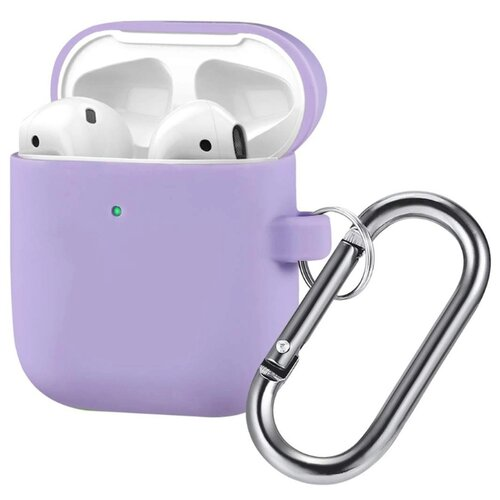 Чехол для Apple AirPods 1/2 силиконовый InnoZone Hang Case - Фиолетовый (AP2-20C-MK-05)