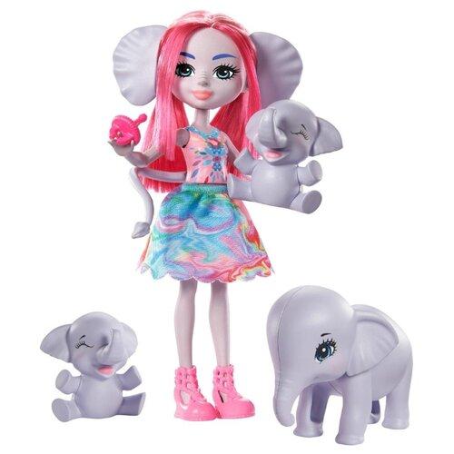 Купить Игровой набор Enchantimals Эсмеральда Слонни с семьей, GTM30, Куклы и пупсы