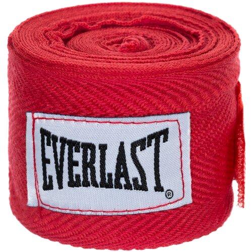 Кистевые бинты Everlast 4465 2,5 м красный