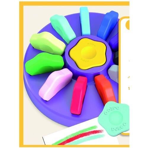 Купить Набор карандашей Djeco в форме цветка для малышей 12 штук (09005), Пастель и мелки