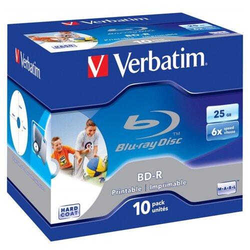 Фото - Диск BD-R Verbatim 25Gb 6x Printable 10 шт. jewel case диск bd r 50gb cmc 6x full printable bulk упаковка 10 штук