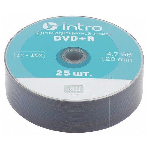 Диск DVD+R Intro 16x 4.7Gb 25 шт. bulk