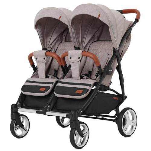 Купить Прогулочная коляска для двойни CARRELLO Connect CRL-5502, Cotton Beige, Коляски
