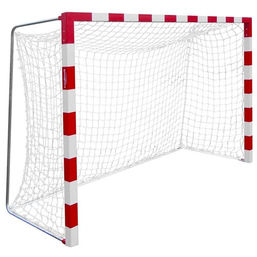 Сетка гандбол/мини-футбол нить 2,2 мм, яч.100*100, белый/синий 4432191