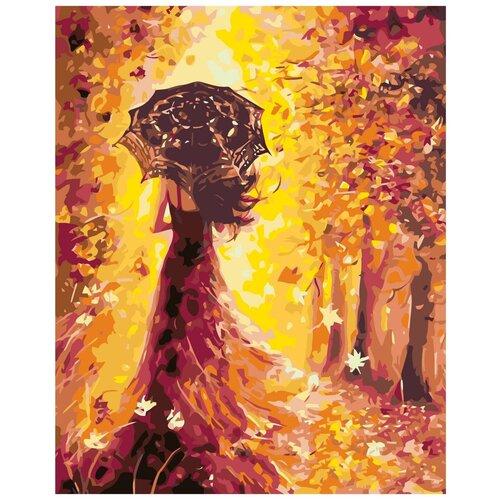 Волшебница осень Раскраска по номерам на холсте Живопись по номерам KTMK-49820 40х50 дальние странствия раскраска по номерам на холсте живопись по номерам ktmk 96447 40х50