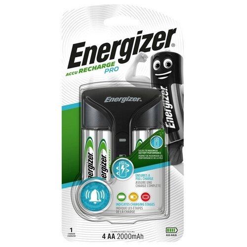 Зарядное устройство Energizer Pro: 2/4 слота AA/AAA + 4 акк. AA 2000mAh