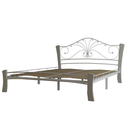 Кровать Форвард-мебель Фортуна 4 полутороспальная, размер (ДхШ): 209х139 см, каркас: массив дерева, цвет: белый